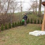 Michael Speck hat die Neuanpflanzungen bei der Grillhütte angelegt.