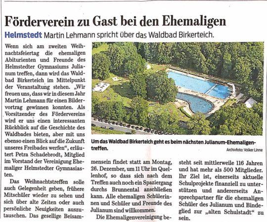 Martin Lehmann wirbt für den Förderverein Waldbad Birkerteich