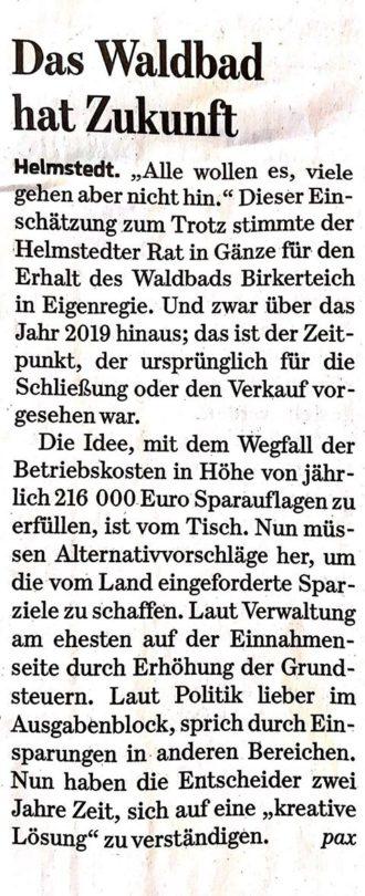 Das Waldbad in Helmstedt hat Zukunft.
