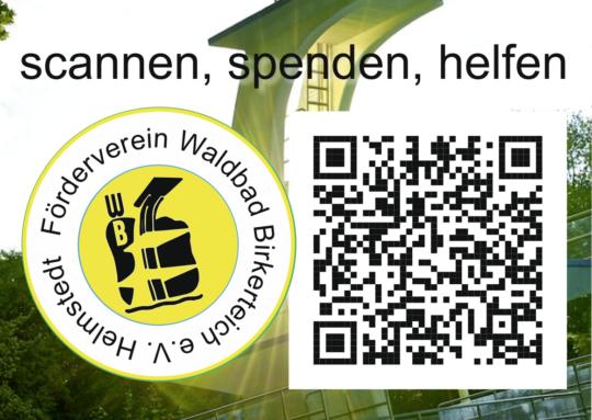 Scannen spenden helfen - Förderverein Waldbad Birkerteich e.V.